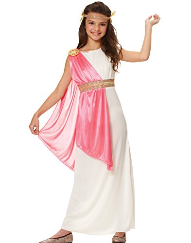 Girl Greek Costume (Costume Culture Girl's Roman Empress Costume, Ivory,)