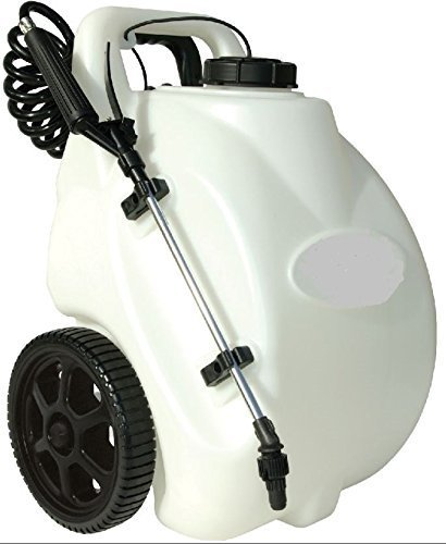 Garden Sprayer On Wheels Battery Operated Pump Home Lawn Fertilizer Weed Killer Pesticide Dolly Cart Pressure Spot Sprayer 12 Volt Rechargeable Battery Battery Garden Sprayers