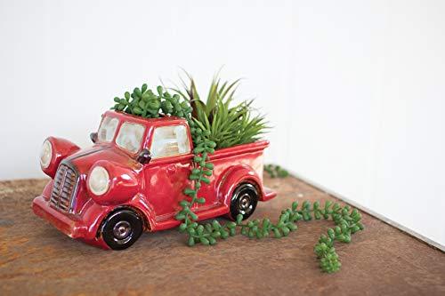 GwG Outlet Ceramic Red Truck Planter CDV1793
