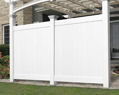 New England Arbors Flat Privacy Wall, 12', White