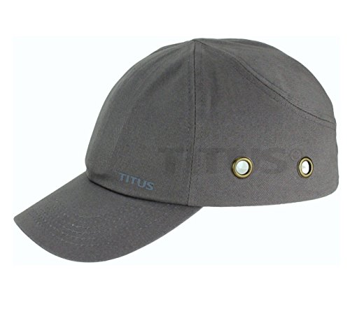 Titus Lightweight Safety Bump Cap - Baseball Style Protective Hat (Grey) by Titus