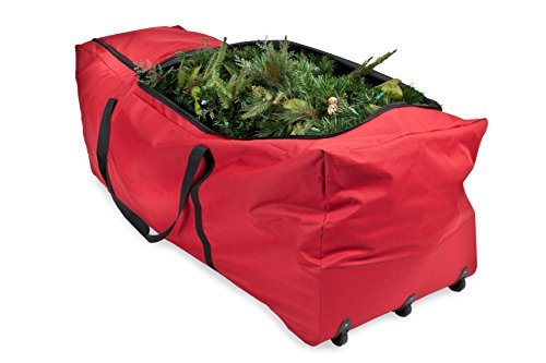 (Santas Bags SB-10187, 9 Foot Rolling Tree Bag with 3-Side Top Opening, Extra Large)