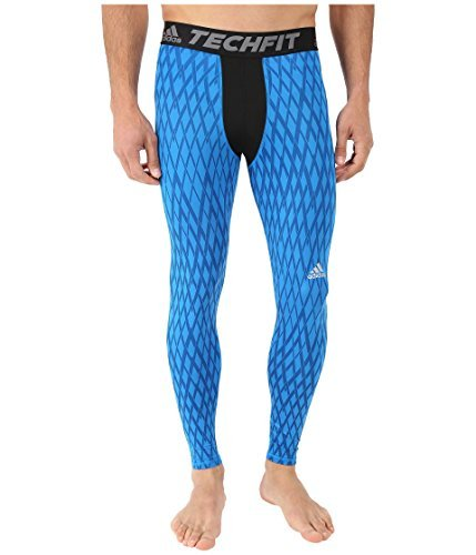 adidas Men's Techfit Base Long Tights, Bright Blue, X-Large by adidas
