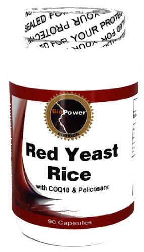Levure de riz rouge 540mg # avec CoQ10 50mg et 10mg Policosanol - Abaissez votre cholestérol naturellement - BioPower Nutrition