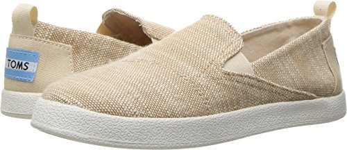 TOMS Kids Girl's Avalon Slip-On (Little Kid/Big Kid) Natural Slubby Linen Loafer