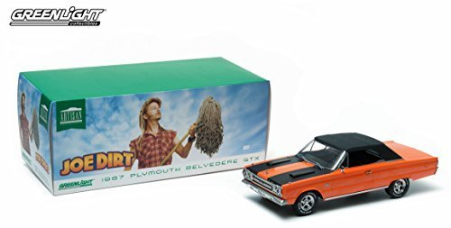 (1967 PLYMOUTH BELVEDERE GTX CONVERTIBLE from the movie JOE DIRT Greenlight Collectibles 2015 Artisan Collection 1:18 Scale Limited Edition Die-Cast Vehicle)