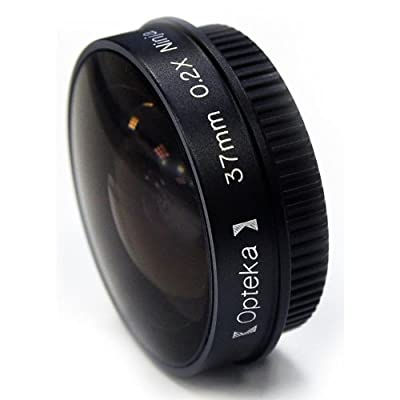 "Opteka Platinum Series 0.2X Low-Profile ""Ninja"" Fisheye Lens for 27mm Camcorders by Opteka"
