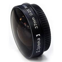 """Opteka Platinum Series 0.2X Low-Profile """"Ninja"""" Fisheye Lens for Sony HDR-CX110, CX110/L, CX150, CX300, CX350V, CX360V, PJ10, PJ30V, PJ50V, XR150, XR160 and XR350V Handycam Camcorders"""