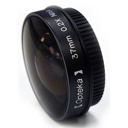 Opteka Platinum Series 0.2X Low-Profile Ninja Fisheye Lens for 27mm Camcorders by Opteka