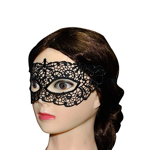 (Lace Masquerade Mask Women Venetian Pretty Party Evening Prom Mask Costume for Masquerade Party)