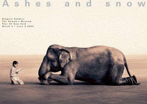 Boy Reading to Elephant NY Exhibition (Giant Poster): New York Exhibition (Giant Poster)