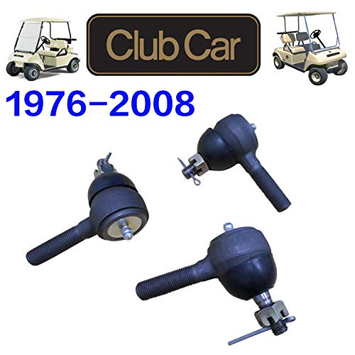 No. 1 accessories Ball Joint Kit,Set of (3) Tie Rod End with Grease Fitting Fits for Club Car DS Golf Carts (1976-2008)