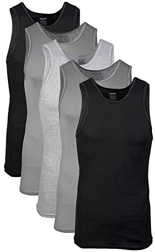 Gildan Men's A-Shirts Tanks Multipack
