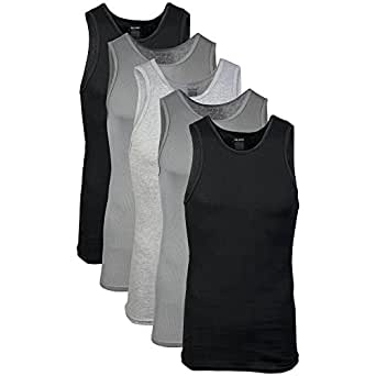 Gildan Men's a-Shirts, Black, Small 5 Pack