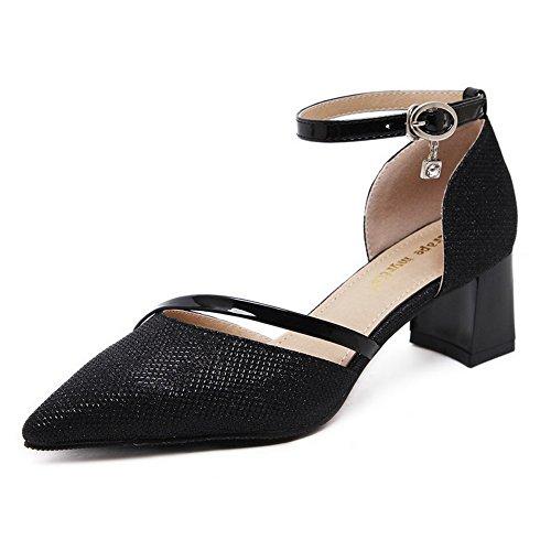 1to9 Mujer 1to9mmsg00332 Sandalias Negro Con Cuña rHUrq