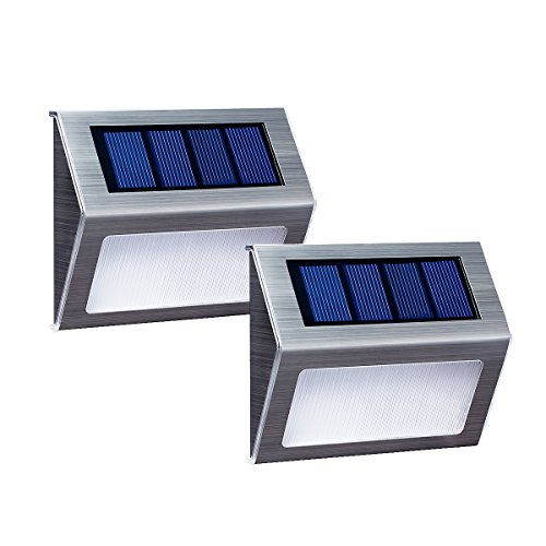 [Warm Light] XLUX S60 Solar Stair Step Light, Warm White, Waterproof, 2 Pack