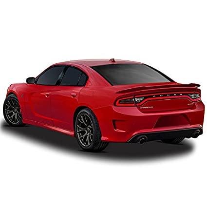 CH HC14 Hellcat Style Flush Mount Spoiler For Dodge Charger   BLACK (X8)