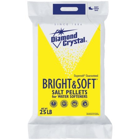 Diamond Crystal Bright and Soft Water Softener Salt Pellets 25 Pound Bag by Cargill Salt