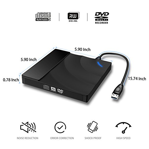 Touch Control External DVD CD Drive,High Speed USB 3.0 External DVD CD Burner Superdrive External CD-RW Drive for MacBook/Computer PC/Laptop/Desktp Windows 10/8/7 /Linux/Mac OS by Valoin (Image #7)