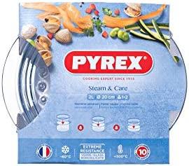Pyrex Steam & Care - Vaporera de vidrio, 24 cm