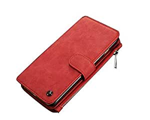 Margoun Leather 2in1 iPhone 6/6s Plus Case Cover with Card Holder -Red