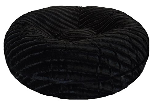 BESSIE AND BARNIE 60-Inch Bagel Bed for Pets, X-Large, Black Puma by BESSIE AND BARNIE