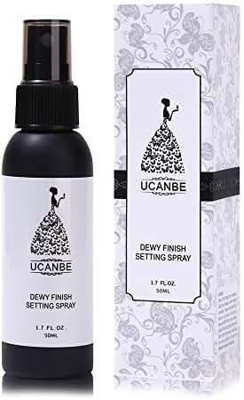 UCANBE Dewy Finish Makeup Setting Spray, Facial Mist Fixer Natural Glowing Skin Long Lasting Moisturizer Make Up Set, 1.70 Fl Oz