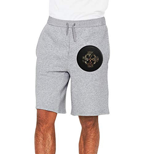 Celtic Crossknot Irish Shield Warrior Men's Shorts Men's Sport Shorts Gray ()