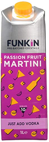 Funkin Passion Fruit Martini Cocktail Mixer, 1 Litre, Case of 6