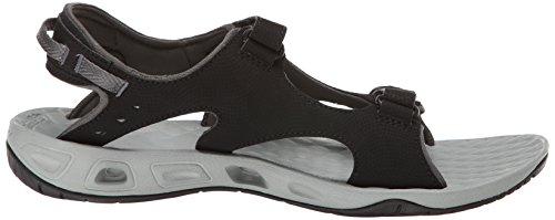 Sandalo Da Donna Columbia Con Due Cinturini Sandalo Nero Platino