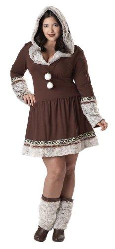 [California Costumes Women's Eskimo Kisses Costume, Brown/White] (Kid Eskimo Costume)