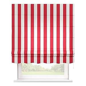 dekoria 160 x 170 cm 63 x 67 inch florencia estor con accesorios rojo y blanco rayas amazon. Black Bedroom Furniture Sets. Home Design Ideas