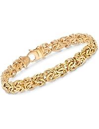 Certified Italian 14kt Yellow Gold Byzantine Bracelet