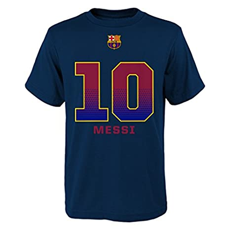 new arrivals c6fde 0b768 Outerstuff Lionel Messi FC Barcelona Youth Navy Name and Number Jersey  T-shirt
