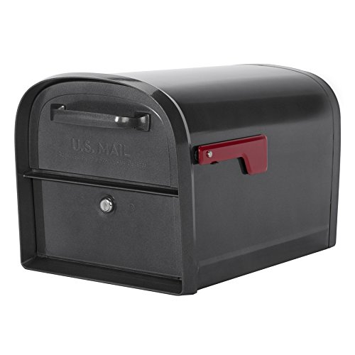 Architectural Mailboxes Oasis Locking Mailbox 11.2-in x 11.4-in Metal Pewter Lockable Post Mount Mailbox by ARCHITECTURAL MAILBOXES