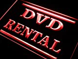 ADVPRO DVD Rental Shop Store LED Neon Sign Red 16'' x 12'' st4s43-i412-r