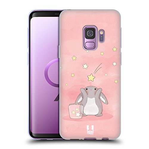 (Head Case Designs Pink Starcatcher Bunnies Soft Gel Case for Samsung Galaxy S9)