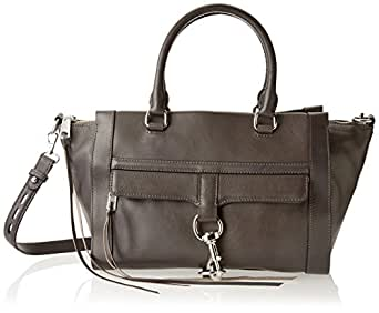 Rebecca Minkoff Bowery Satchel Handbag,Charcoal,One Size