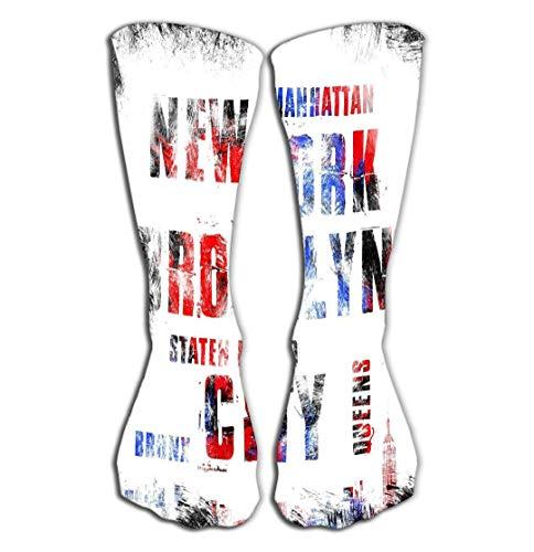 Xunulyn Men's Women Socks High Graduated Casual Socks 19.7