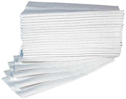Takestop® - 60 x Toallas de papel gofrado desechables para secar las manos - Dimensiones