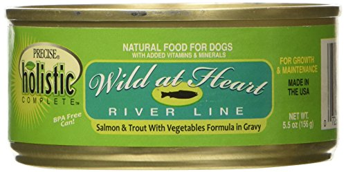 Precise Holistic Complete Salmon and Trout Pet Food (24 Pack), 5.5 oz