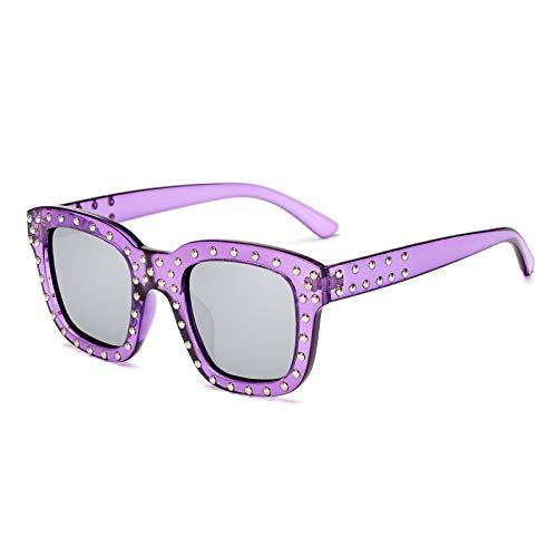 Trend Polarized Women Sunglasses Fashion Square Mi Neck colorful Film Glasses. (color   4)