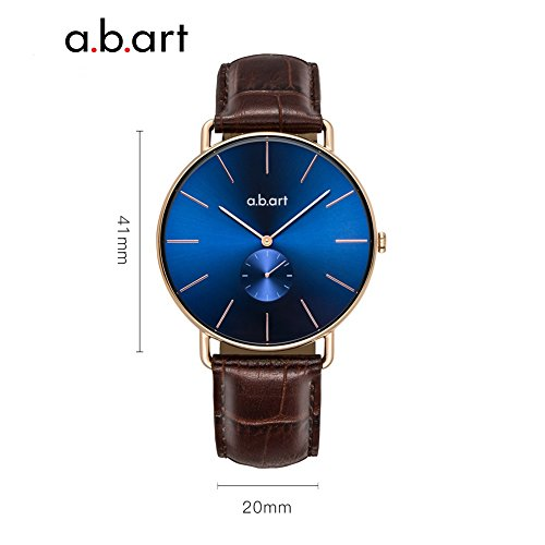 a.b .art FR36-013-4L Women Crack Oily Calf Leather Strap Blue Dial Gold Watch Wrist Watches by a.b.art (Image #2)