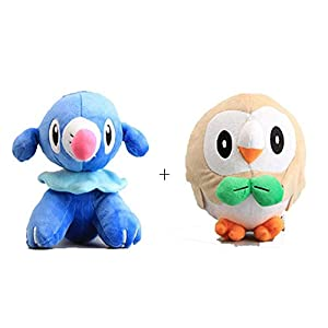 "7"" 2pcs/set Rowlet & Popplio Plush Stuffed Soft Toys Dolls - 41xU90B4t L - 7″ 2pcs/set Rowlet & Popplio Plush Stuffed Soft Toys Dolls"