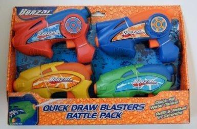Banzai Quick-Draw Blasters (Set of 4) ()