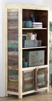 Canett 10004,02,65 Bücherregal, Holz, holzfarben, bunt, 180 x 90 x 42 cm