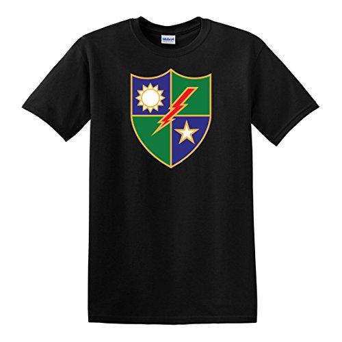 Army Ranger Insignia - fagraphix Men's US Army 75th Ranger Regiment Distinctive Unit Insignia T-Shirt X-Large Black
