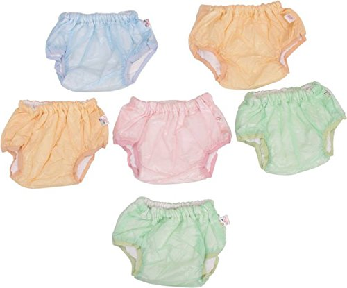 Vadmans Baby Nappy Training Pants Plain, Inner Cloth   Outer Plastic, Reusable Pack of 6  Multi Color   X Large
