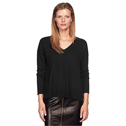 New Ellos Women's Plus Size V-Neck High/Low Sweater supplier
