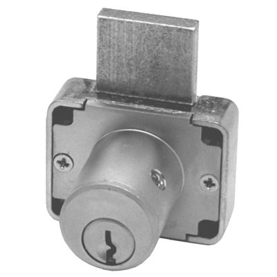 Olympus Locks Ol200 26D138 Kd Deadbolt Lock With 1-.38 Cylinder Length For Drawers - Keyed Different